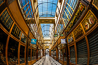 The shopping arcade Passage du Grand Cerf, built in 1825, Paris, France.