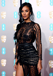 Maya Jama attending the 72nd British Academy Film Awards held at the Royal Albert Hall, Kensington Gore, Kensington, London.