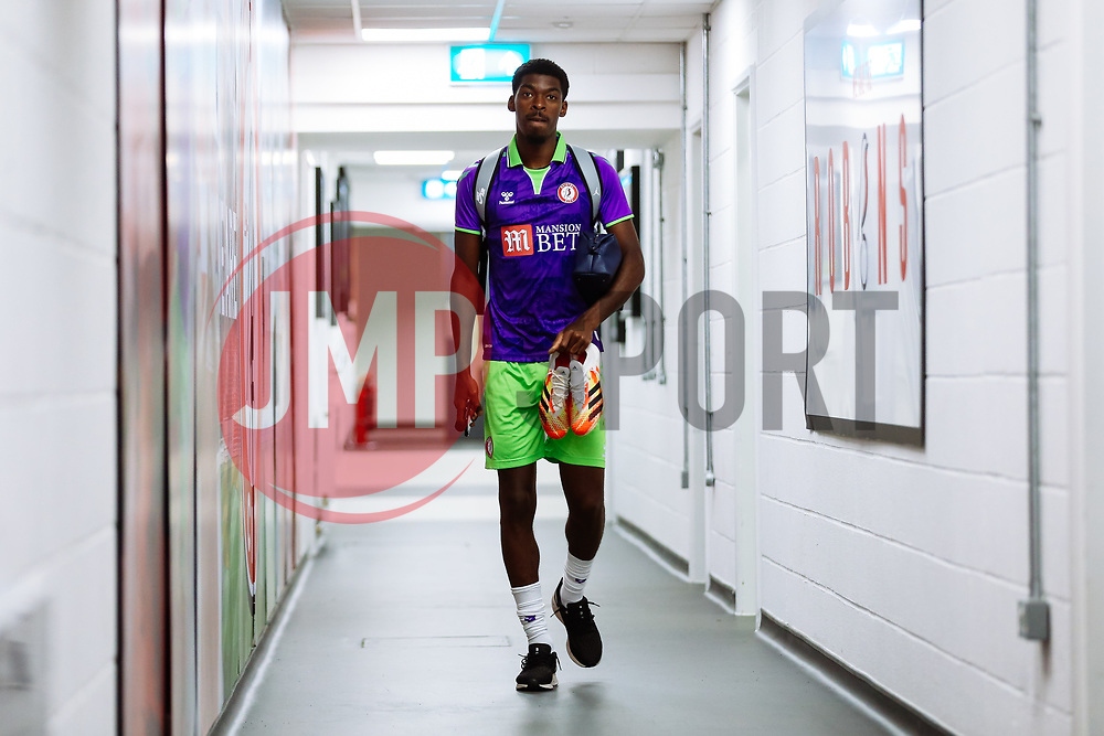 Tyreeq Bakinson of Bristol City arrives - Rogan/JMP - 21/08/2020 - Ashton Gate Stadium - Bristol, England - Bristol City v Cheltenham Town - Pre Season Friendly.