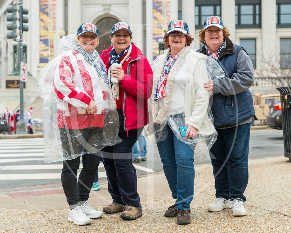 Washington DC, United States - A group of friends attend Donald J. Trump's 2017 inauguration.