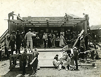 1917 An early movie set at Vitagraph Studios