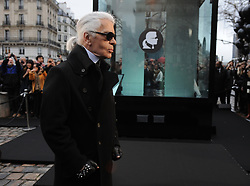 German designer Karl Lagerfeld launches the Net-a-Porter in Paris, France on January 25, 2012. Photo by Mousse/ABACAPRESS.COM
