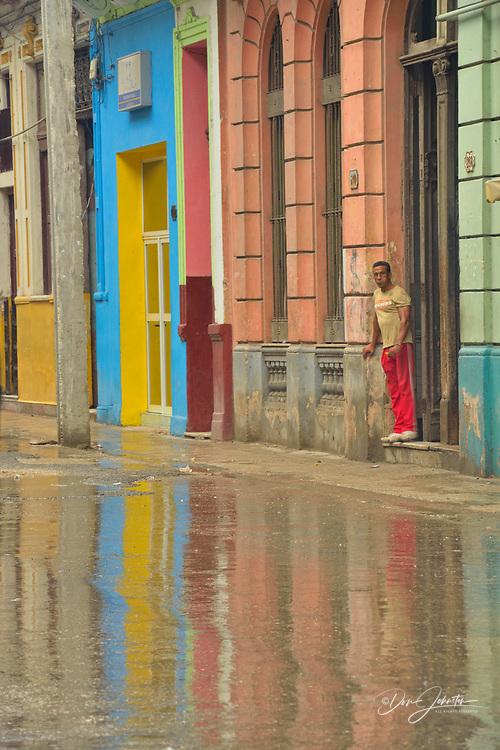 Street photography in central Havana- Reflections on a rainy day, La Habana (Havana), Habana, Cuba