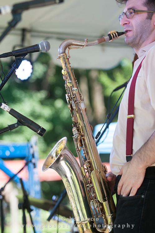 Roosevelt Dime performing at the American Roots Music Festival at Caramoor in Katonah New York.photo by Gabe Palacio
