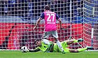 BILDET INNGÅR IKEK I FASTAVTALER. ALL NEDLASTING BLIR FAKTURERT.<br /> <br /> Fotball<br /> Tyskland<br /> Foto: imago/Digitalsport<br /> NORWAY ONLY<br /> <br /> Nicolai Müller (HSV), erzielt hier gegen Rune Almenning Jarstein (Torwart Hertha BSC), ein Tor, wird aber wegen abseits nicht anerkannt Hertha BSC Berlin - HSV, Hamburger Sportverein 1. Bundesliga 2016/2017, 1. BL, 1. Bundesliga, DFL, Fußball, Fussball, soccer, Herren, Männer, Maenner, Deutschland, Germany, Ergebnis Berlin, 1.10.2016, Olympiastadion