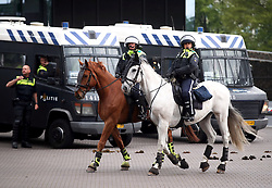 Amsterdam mounted police in the centre ahead of the UEFA Champions League Semi Final, second leg match at Johan Cruijff ArenA, Amsterdam.