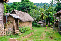 Bali, Karangasem, Tenganan.  A traditional Bali Aga village. Tenganan is located on the fertile hills stretching up to Gunung Agung.