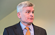 Republican Senator Bill Cassidy after his town hall meeting in Metairie Louisiana where he faced angry constituents on Feb. 22, 2017.<br /> p1