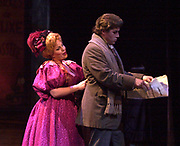 In a sence from act 2 from the Florida Grand Opera production of La bohème Musetta (played by Elizabeth Caballero) MarcelloÕs (played by Frank Hernandez) old flame teases him in an attemp to reconcile. La bohème one of the best-loved operas by audiences worldwide is story of youth and never ending love. (El Nuevo Herald Photo/Gaston De Cardenas)