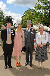 Left to right, MR RORY BUCHANAN, LADY ANTONIA PEEL and the EARL & COUNTESS PEEL at day two of the Royal Ascot 2016 Racing Festival at Ascot Racecourse, Berkshire on 15th June 2016.