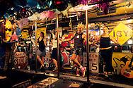 Staff dancing at Ciao Bella restaurant, Ben Lomand, Santa Cruz County, California
