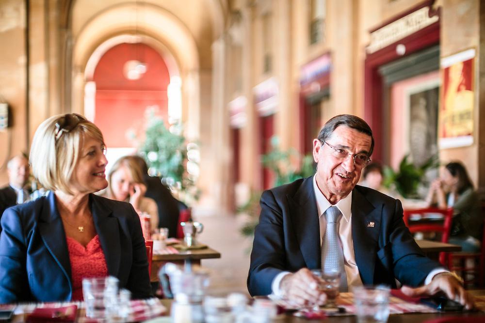 23 SEP 2013 - Lugo di Ravenna (RA) - Silvio Bartolotti, AD Micoperi, con Patrizia Galassi, sua segretaria.