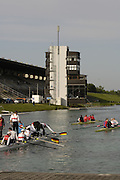 Munich, GERMANY, 2006, Munich finishing tower from the boating area. FISA, Rowing, World Cup,  held on the Olympic Regatta Course, Munich, Thurs. 25.05.2006. © Peter Spurrier/Intersport-images.com,  / Mobile +44 [0] 7973 819 551 / email images@intersport-images.com.[Mandatory Credit, Peter Spurier/ Intersport Images] Rowing Course, Olympic Regatta Rowing Course, Munich, GERMANY