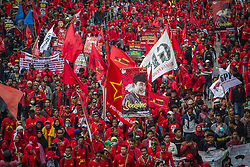May 1, 2019 - Jakarta, Indonesia - Indonesian workers take part in a May Day rally in Jakarta on May 1, 2019.  Thousands of Indonesian workers are urging the government to raise minimum wages and improve working conditions. (Credit Image: © Afriadi Hikmal/NurPhoto via ZUMA Press)