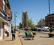 Church of Saint Peter and Market Hill, Sudbury, Suffolk, England