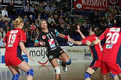 at handball game ZRK Celje Celjske Mesnine vs RK Krim Mercator in final match of Slovenian Handball Cup,  on April 6, 2008 in Arena Golovec, Celje, Slovenia. Krim won the game 31:21 and became Cup Winner.  (Photo by Vid Ponikvar / Sportal Images)