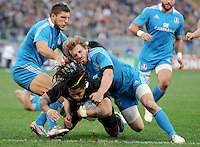 Rome, Italy -In the photo Bergamasco plaque Ma'a Nonu during .Olympic stadium in Rome Rugby test match Cariparma.Italy vs New Zealand (All Blacks). (Credit Image: © Gilberto Carbonari).
