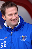 Photo: Paul Greenwood.<br />Blackpool v Norwich City. The FA Cup. 27/01/2007. Blackpool manager Simon Grayson cracks a smile
