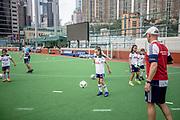 Tottenham Hotspur F.C held a children's coaching clinic on 23 May 2017 at Hong Kong Football club, HONG KONG.<br /> Photo by MozImages.