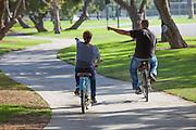 People Riding Bikes in Cerritos Park