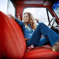 Country singer, Jessi Alexander, photographed for Harmp Magazine in Nashville, Tennessee.