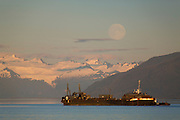 Petro Marine Services barge, Tongass National Forest, Alaska.