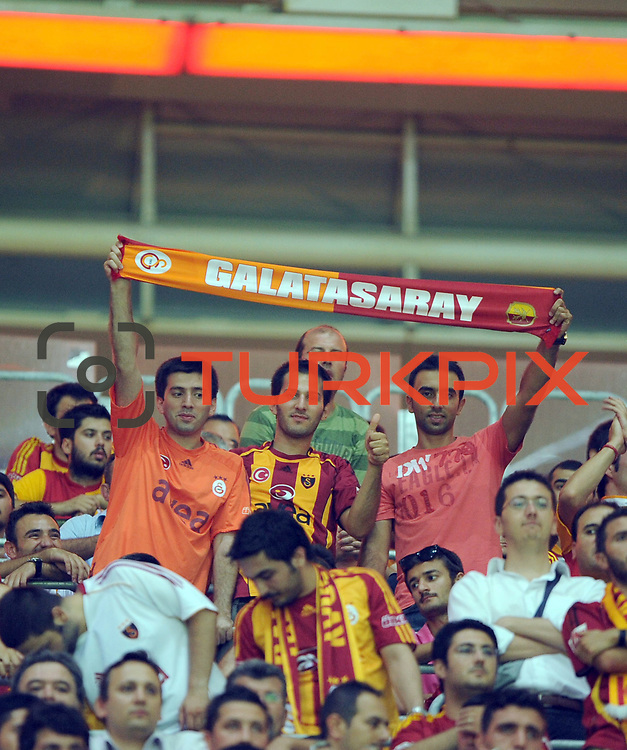 Galatasaray's supporters during their Friendly soccer match Galatasaray between Liverpool at the TT Arena at Arslantepe in Istanbul Turkey on Saturday 28 July 2011. Photo by TURKPIX