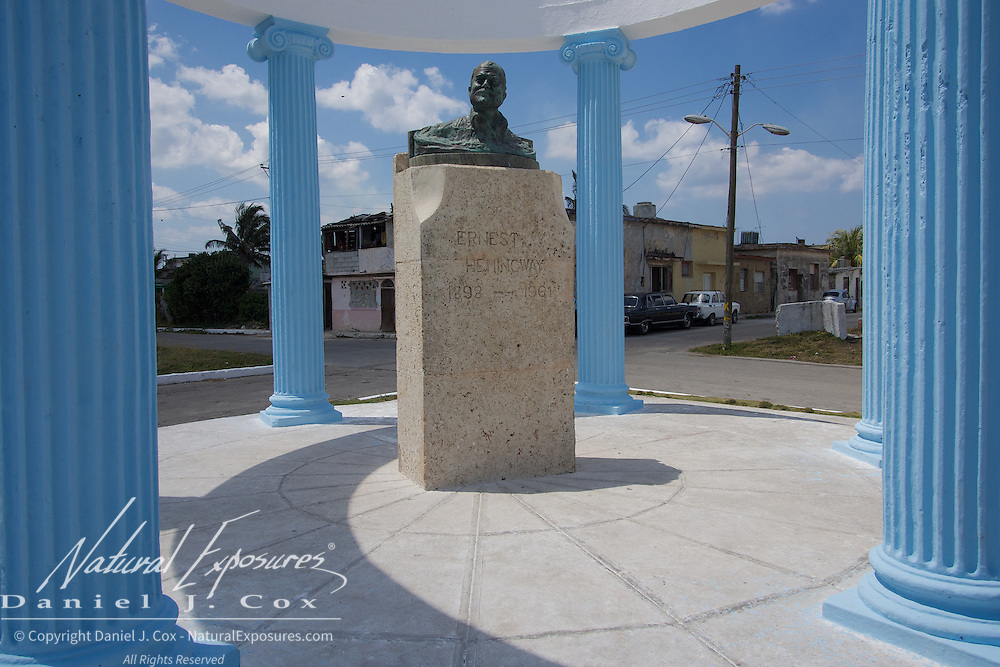 A monument to Ernest Hemingway in the small seaside fishing community in Cojimar, Cuba