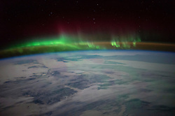 """EARTH Aboard the International Space Station -- 01 Mar 2016 -- NASA astronaut Scott Kelly tweeted this aurora image over Canada on Jan. 21, 2016 with the message: """"""""O Canada! Beneath thy shining skies. You were beautiful this morning! --. EXPA Pictures © 2016, PhotoCredit: EXPA/ Photoshot/ Scott Kelly/Atlas Photo Archive/<br /><br />*****ATTENTION - for AUT, SLO, CRO, SRB, BIH, MAZ, SUI only*****"""