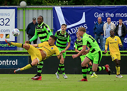 Tom Nichols of Bristol Rovers attempts a scissor kick - Mandatory by-line: Paul Roberts/JMP - 22/07/2017 - FOOTBALL - New Lawn Stadium - Nailsworth, England - Forest Green Rovers v Bristol Rovers - Pre-season friendly