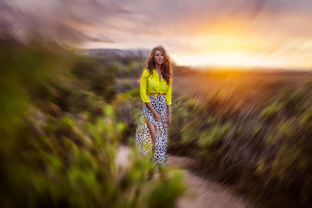 OLIO Series shot at the San Elijo Lagoon in Solana Beach, CA. Talent: Ellesse Jordan. ©justinalexanderbartels.com