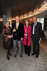 Left to right, JUDITH CHALMERS, NICHOLAS & ANNIE PARSONS and NEIL DURDEN-SMITH at the Lady Taverners Tribute Lunch in honour of Nicholas Parsons held at The Dorchester, Park Lane, London on 20th November 2009.