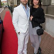 NLD/Amsterdam/20130613 - Inloop feestje Ferry Doedens, Marly van der Velden en partner Mike Meijer