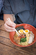 The Happa food cart at Tidbit food pod on SE Division is know for its delicious ramen.