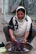 Afghanistan. Charahi Spinkali, district 5, Kabul. Amida does the washing.