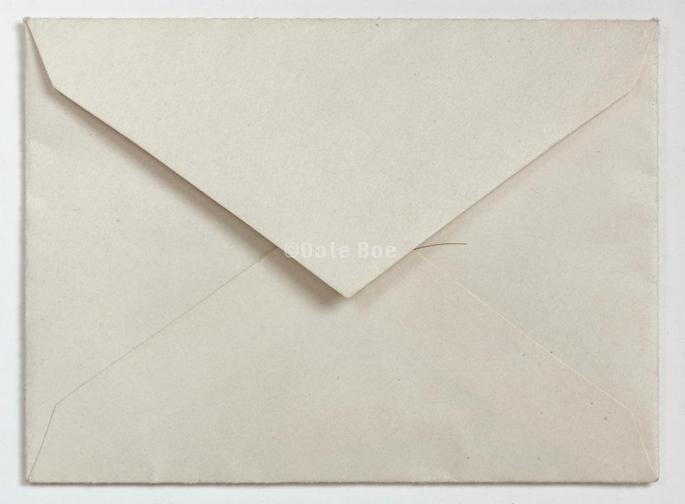 back side of an envelope