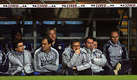 Photo: Paul Thomas.<br /> Aston Villa v Chelsea. The Barclays Premiership. 02/01/2007.<br /> <br /> A worried manager Jose Mourinho (3rd R) and Chelsea bench.