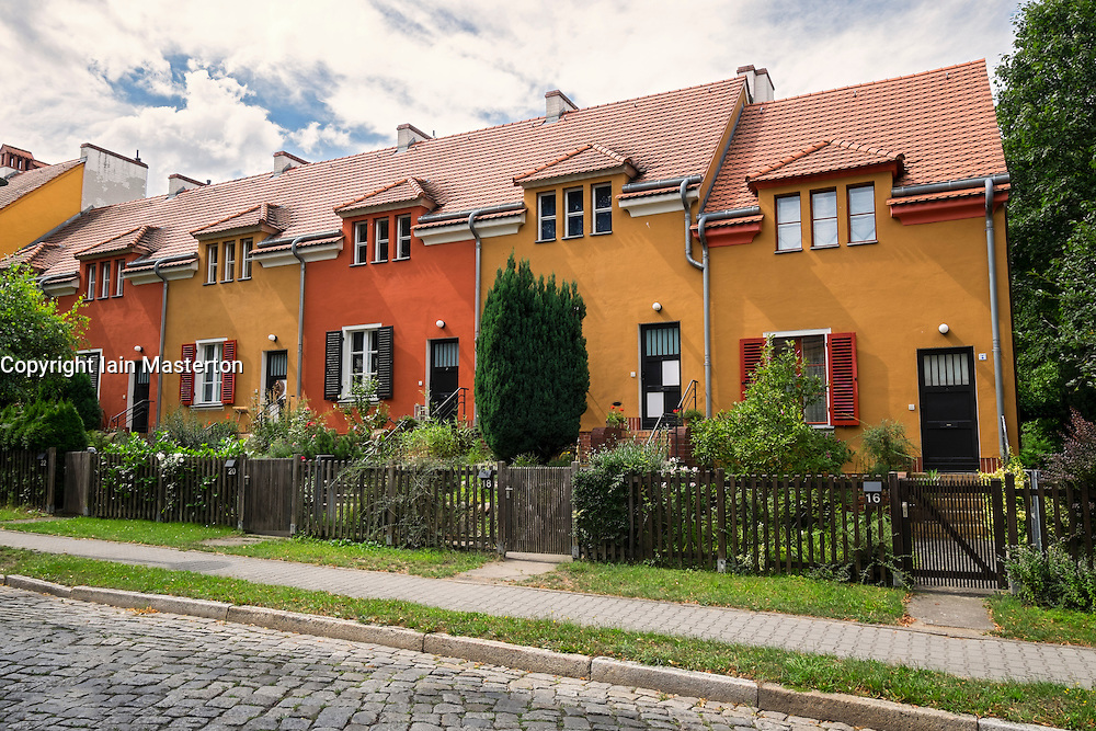 Gartenstadt , (Garden city), housing estate a UNESCO world Heritage site at Falkenberg in Berlin Germany