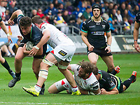 Rugby Union - 2016 / 2017 Guinness Pro12 - Ospreys vs. Ulster<br /> <br /> Kieron Fonotia of Ospreys attacks, at Liberty Stadium.<br /> <br /> COLORSPORT/WINSTON BYNORTH