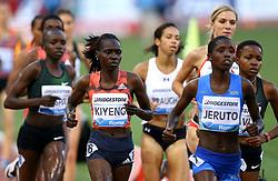 May 31, 2018 - Rome, Italy - Hyvin Kiyeng (KEN) competes in 3000m Steeplechase women during Golden Gala Iaaf Diamond League Rome 2018 at Olimpico Stadium in Rome, Italy on May 31, 2018. (Credit Image: © Matteo Ciambelli/NurPhoto via ZUMA Press)