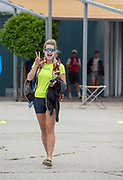 Plovdiv, Bulgaria, 9th May 2019, FISA, Rowing World Cup 1, Molly BRUGGEMAN, USA, in Boat area.<br /> [© Peter SPURRIER]