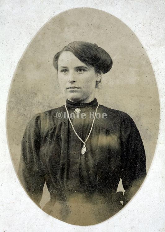 classical vintage portrait of a female person