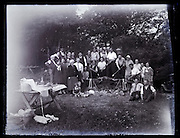 large family and friends barbecue picnic gathering