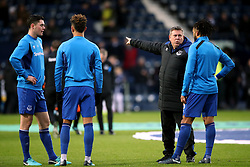 Everton's first team coach Craig Shakespeare speaks to Ashley Williams before the Premier League match at The Hawthorns, West Bromwich.