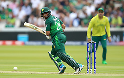 Pakistan's Imam-ul-Haq bats during the ICC Cricket World Cup group stage match at Lord's, London.