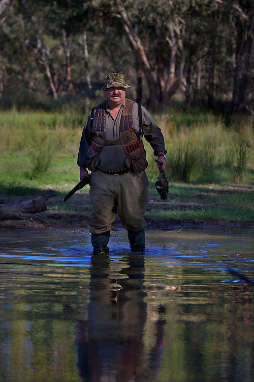 Robert Hodder. Duck hunting season opens near Howlong on the Murray River. Pic By Craig Sillitoe CSZ/The Sunday Age 10/3/2011 melbourne photographers, commercial photographers, industrial photographers, corporate photographer, architectural photographers, This photograph can be used for non commercial uses with attribution. Credit: Craig Sillitoe Photography / http://www.csillitoe.com<br /> <br /> It is protected under the Creative Commons Attribution-NonCommercial-ShareAlike 4.0 International License. To view a copy of this license, visit http://creativecommons.org/licenses/by-nc-sa/4.0/.