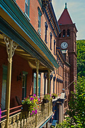 Broadway inn, bank and town center, Jim Thorpe, Carbon County, PA, USA