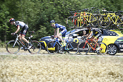 July 6, 2017 - Troyes, FRANCE - Norway's Vegard Stake Laengen of UAE Team Emirates, Belgian Frederik Backaert of Wanty - Groupe Gobert and French Perrig Quemeneur of Direct Energie pictured in action during the sixth stage of the 104th edition of the Tour de France cycling race, 216 km from Vesoul to Troyes, France, Thursday 06 July 2017. This year's Tour de France takes place from July first to July 23rd...BELGA PHOTO YORICK JANSENS (Credit Image: © Yorick Jansens/Belga via ZUMA Press)