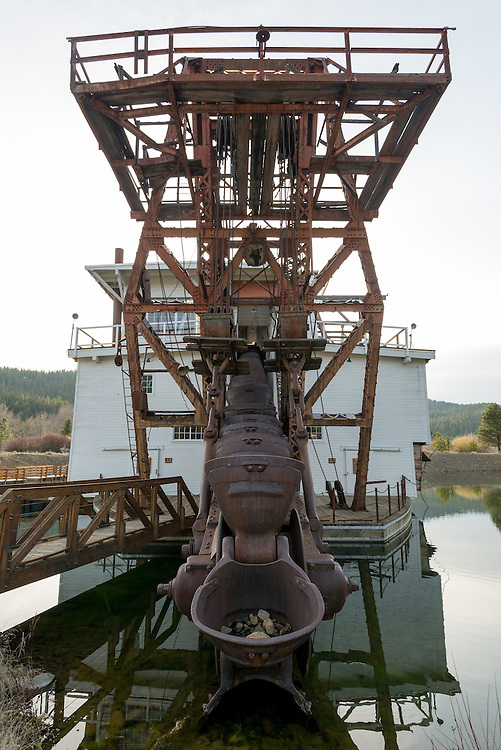 #3 YUBA gold dredge at the Sumpter Valley Dredge State Heritage Area, Eastern Oregon.
