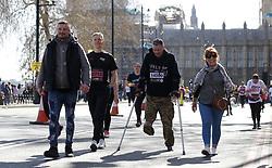 Spectators and competitors during the 2019 London Landmarks Half Marathon.